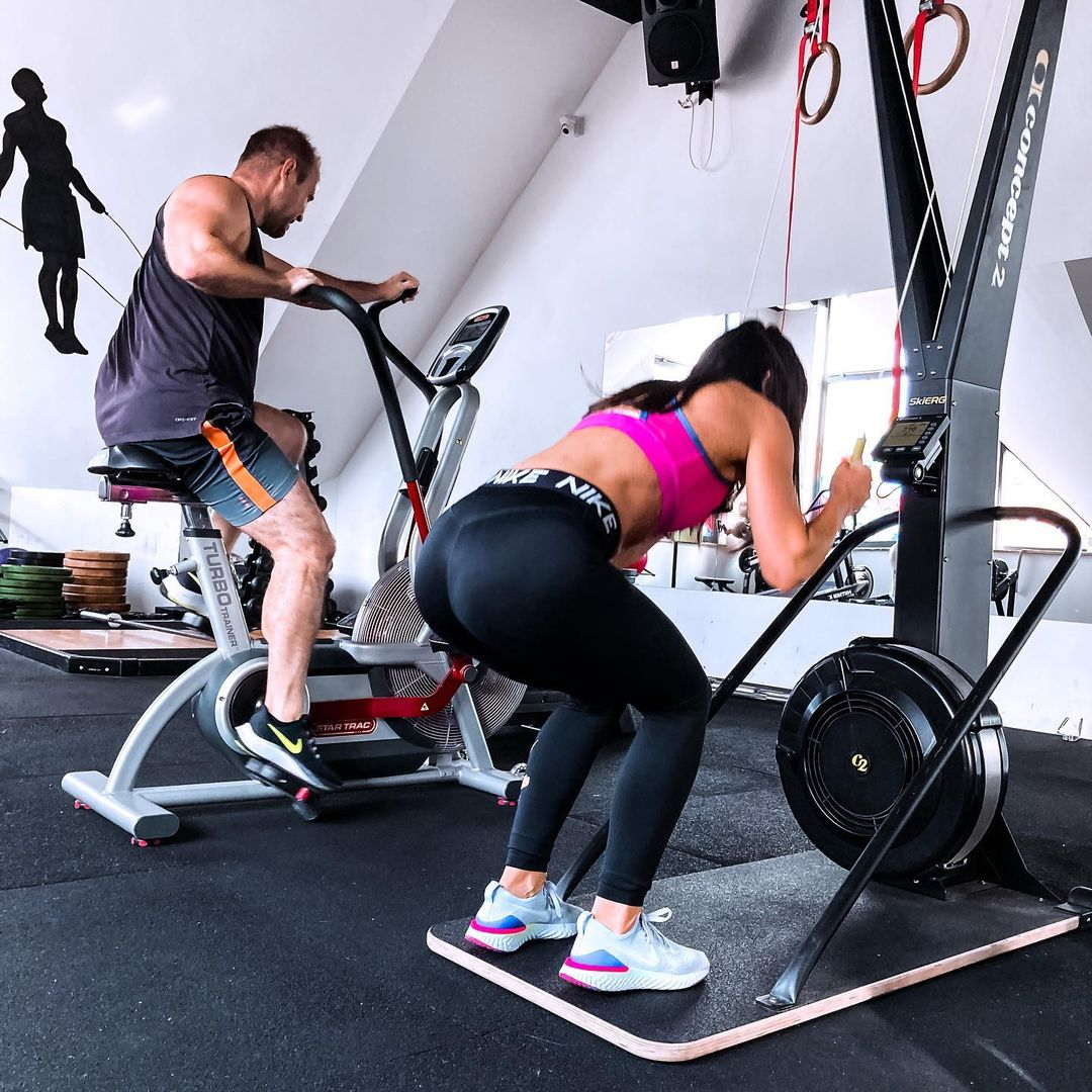 sport together at gym is more attractive rather alone