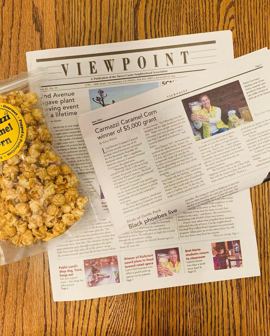 startup with popcorn in us